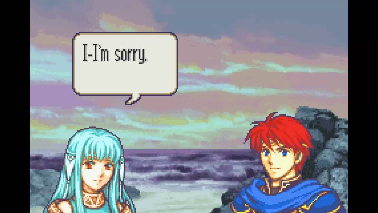 Fire Emblem Blazing Sword Eliwood Ninian Support Youtube