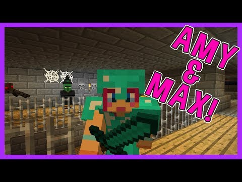 SUPER SCARY DUNGEONS! | Amy & Max! Ep.61 | Minecraft