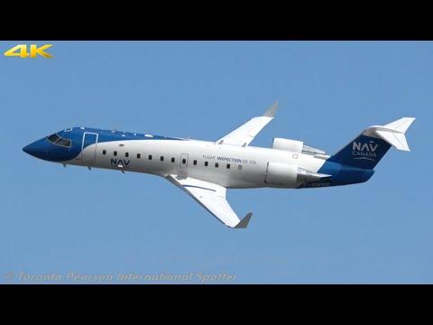 Nav Canada CRJ-200ER (ILS Testing)   C-GNVC   Low Flying At Toronto Pearson