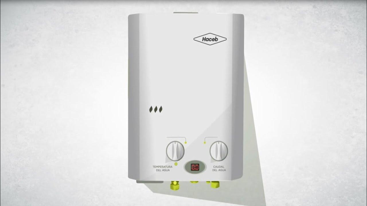 Servicio haceb calentador de agua haceb 5 5 litros youtube - Calentadores electricos cuadrados ...