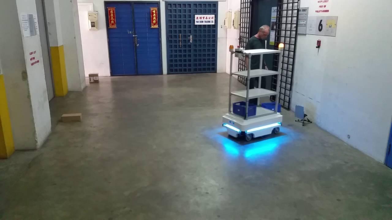 Mir mobile industrial robots agv rack horn push button light youtube - Mobel industrial ...