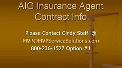 AIG Life Insurance Agent Contract