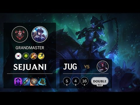Sejuani Jungle vs Elise - KR Grandmaster Patch 10.12