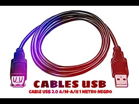 Video de Cable USB 2.0 A/M-A/H 1 M Negro