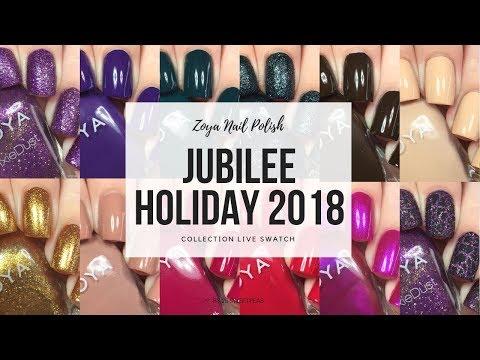 Zoya Jubilee Holiday 2018 Collection | 25 Sweetpeas