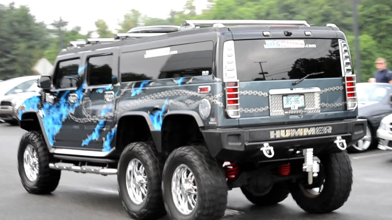 Custom 6 wheel h2 hummer driving youtube vanachro Image collections