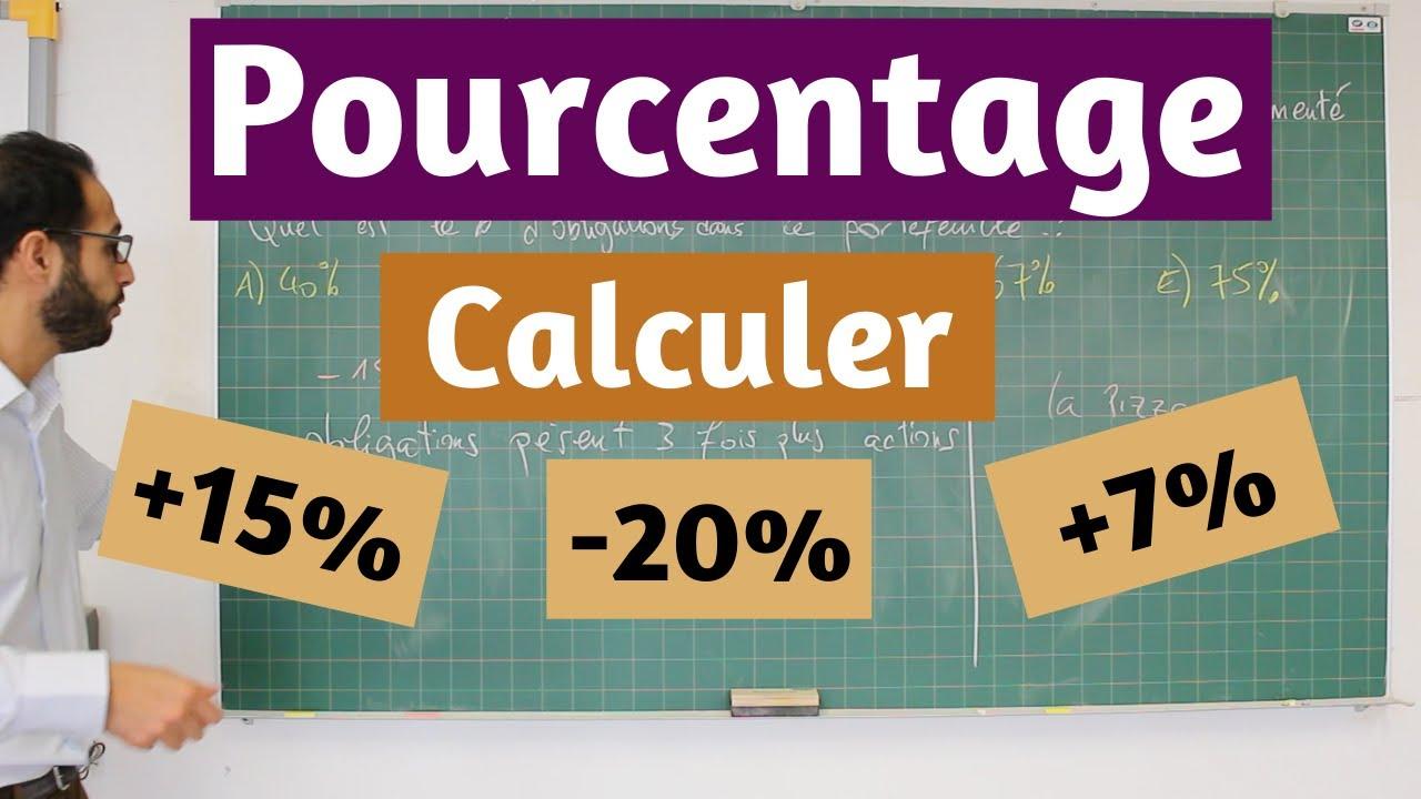 Download Pourcentage - Calculer +15% ; -20% ; +7%