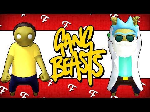 Gang Beasts: Team Rick VS Team Morty! (Rick and Morty Edition - Comedy Gaming)
