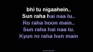 SUN RAHA HAI NA tu AASHIQUI 2 KARAOKE free by Narinder Kumar YouTube