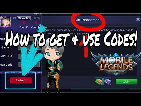 How To Redeem Codes In Mobile Legends!!