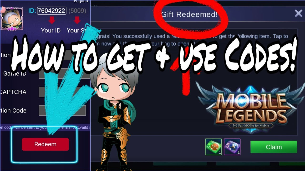 How to redeem codes in Mobile Legends!! - YouTube