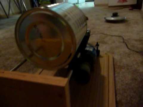 Home made rock tumbler youtube for Diy rock tumbler motor
