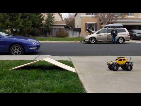 DIY Minimalist RC Car Ramp Build featuring Bumblebee