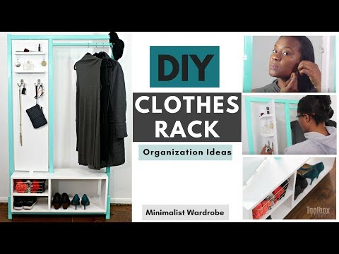 DIY Minimalist Clothes Rack | Closet Organization Ideas (2018)