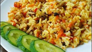 ПЛОВ в мультиварке РИС с овощами rice with vegetables
