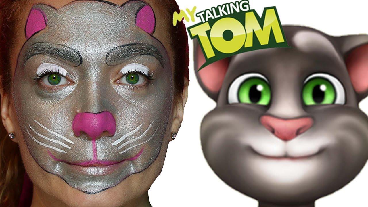 Talking Tom Makyaji Konusan Tom Makyaj Yapma Teknikleri