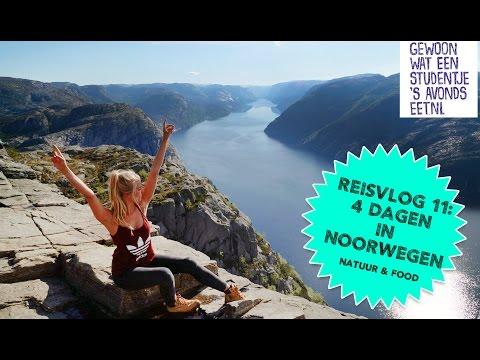 Reisvlog #11: Natuur & eten in Noorwegen (Preikestolen, Stavanger & Bergen)