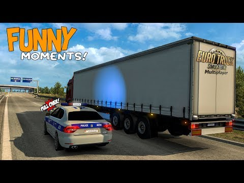 Euro Truck Simulator 2 Multiplayer Funny Moments & Crash Compilation #78