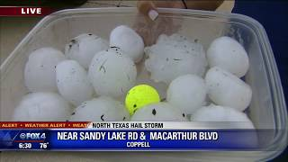 large hail falls in parts of north texas