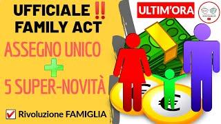 #bonus #famiglia #familyact #assegnounico #inpsil consiglio dei ministri ha dato ufficialmente il via libera al family act e di conseguenza all'assegno unico...