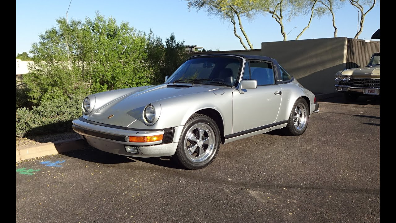 1986 Porsche 911 Carrera Targa Top In Silver Engine Start Up On My Car Story With Lou Costabile Youtube