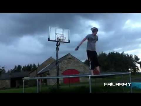 jump trampoline on the groud by sport dangerous * trampoline fall 2016