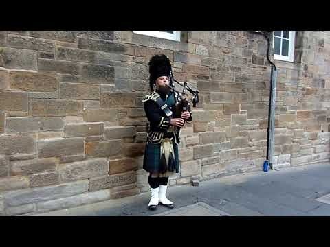 Scottish Bagpipes Music Busker Stirling Scotland