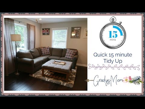 15 Minute Morning Tidy Up | Cleaning Motivation- Stay at home mom