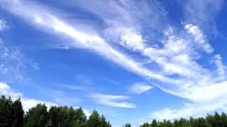 Красивые перистые облака.Time Lapse 4K