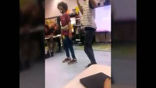Ayo & Teo performance in class
