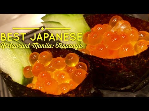 2018 Best Japanese Restaurant Manila: Teppanya Sushi and Teppanyaki Evia Lifestyle Center