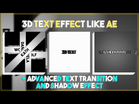 Alightmotion Tutorial♡3d Text+extra Advanced Text Transition/effect♡