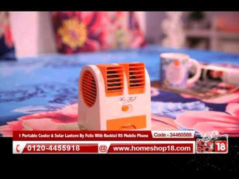 Homeshop18.com - 1 Portable Cooler & Solar Lantern By Felix With Rocktel R5 Mobile Phone