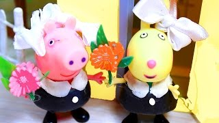 Свинка Пеппа Peppa Pig. Пеппа, Сьюзи и Ребека идут  в школу