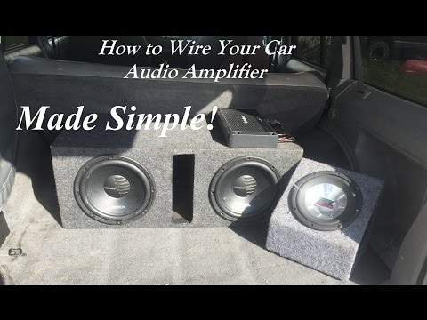 How To Hook Up 2 Amps 1 For Mids N 1 For Subs And A Fan from YouTube · Duration:  8 minutes 46 seconds