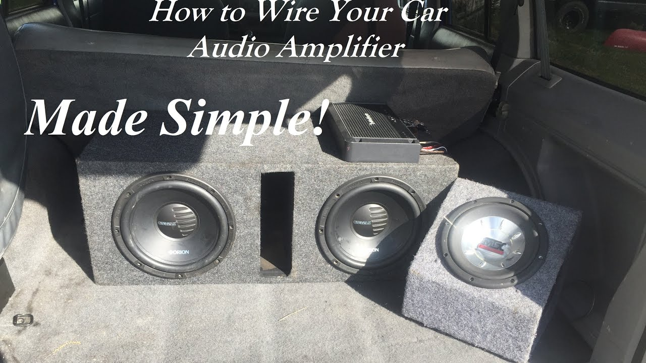 Instructions on hooking up a second amp
