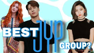 ranking JYPE groups in different categories