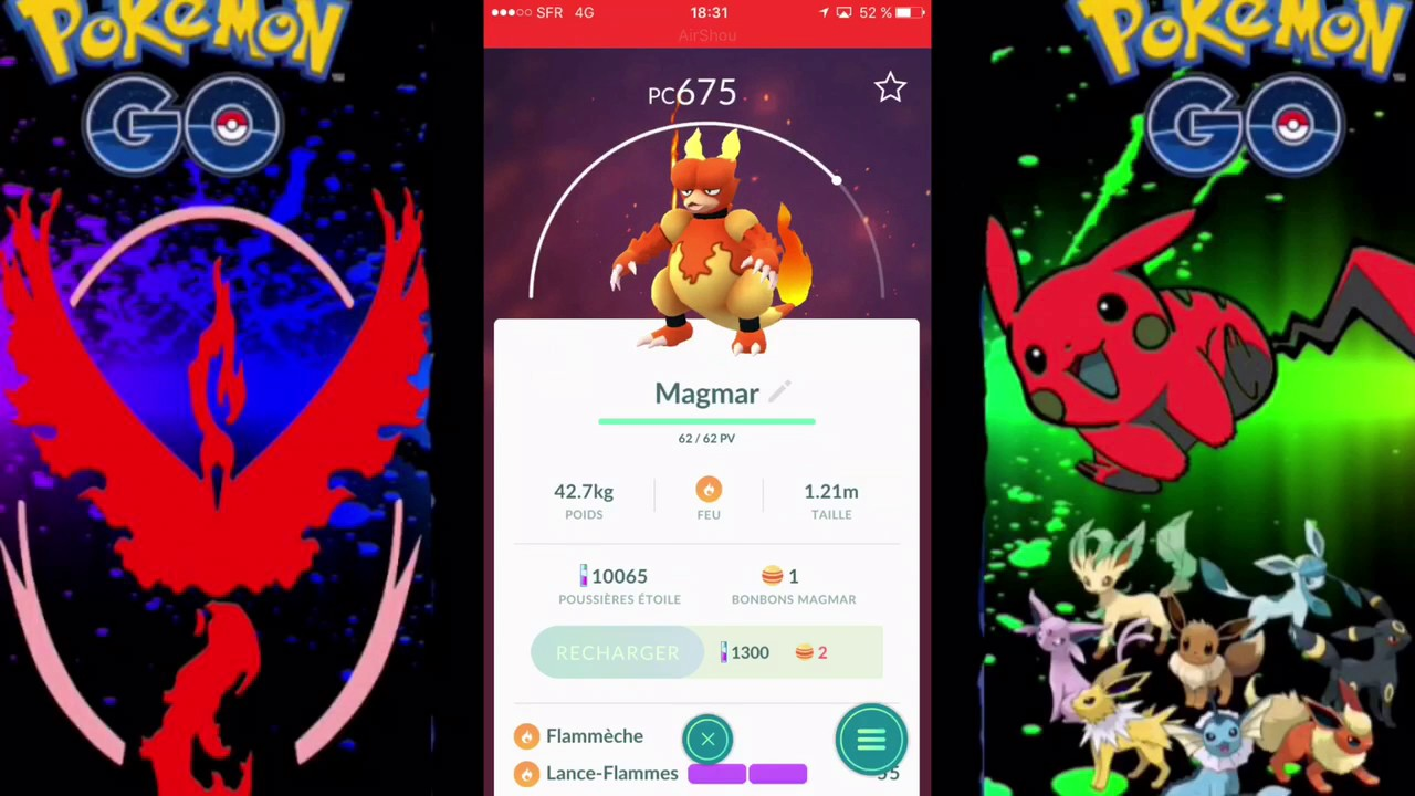 Recharger Ses Pokémon Sans Poussières étoiles Sur Pokémon Go