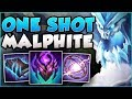 WTF RIOT! SINCE WHEN CAN A MALPHITE DO THIS MUCH DMG?? MALPHITE TOP GAMEPLAY! - League of Legends