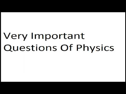 Physics class 9th most important questions tagged videos on VideoHolder