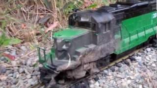 Масштаб G поїзда ( млрд. ГП20 зруйнований в результаті пожежі.......)