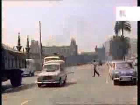 Late 1950s, Early 1960s Barcelona, Spain, Traffic, Sagrada Familia