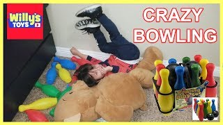 Crazy Fun Game of Bowling for Kids - Learn Colors and Numbers -Willy