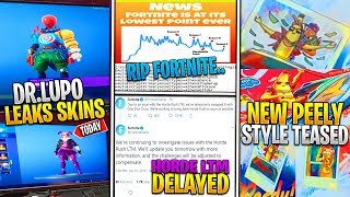 *NEW* Fortnite: DR. Lupo LEAKS SKINS & ENCRYPTED ITEMS, Horde LTM DELAYED, Peely Style, & RIP LEAKING
