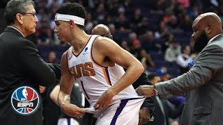 Devin Booker-Gorgui Dieng ejected | Grizzlies vs. Suns | NBA Highlights