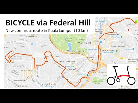 Bicycle commute via Federal Hill to Work in Bangsar, Kuala Lumpur