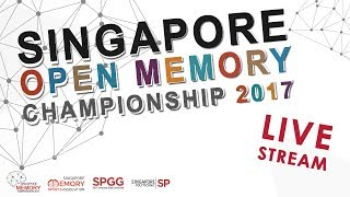 Singapore Open Memory Championships 2017 (LIVE STREAMING)