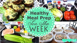 Meal Prep For The Week | Egg Muffins | Chicken Salad | Quinoa Salad