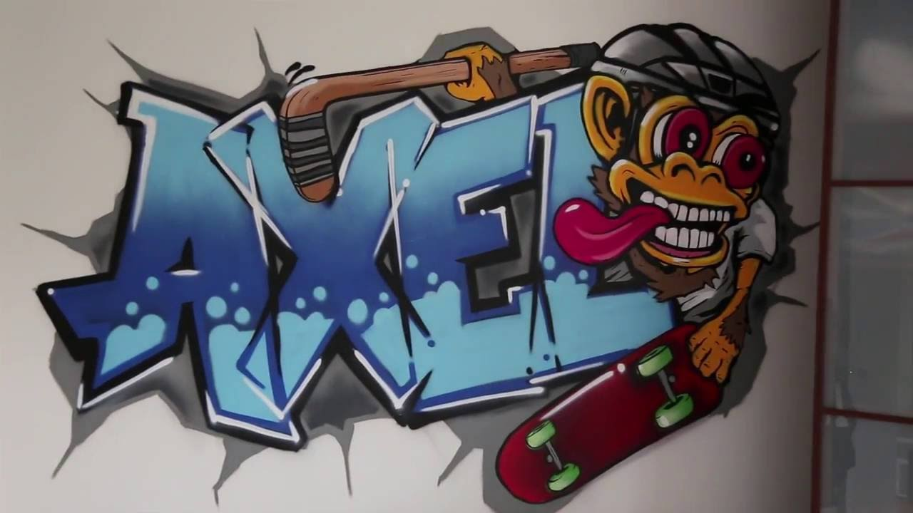 Kids Bedroom Graffiti graffiti design for kids bedroom | circuit 72 - youtube