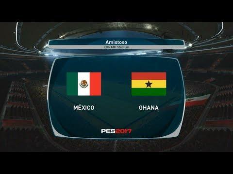 PES 2017 | México vs Ghana | Gameplay PC